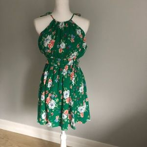 Gilli Green Floral Dress